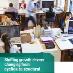 Staffing growth drivers changing from cyclical to structural